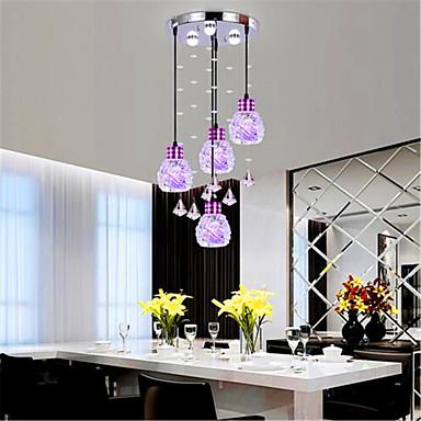 Moderne / Nutidig Vedhæng Lys Baggrundsbelysning - Krystal Ministil LED, 220-240V, Varm Hvid Kold Hvid, Pære Inkluderet