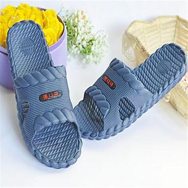 Unissex Sapatos PVC Primavera Outono Chinelos e flip-flops Rasteiro Para Casual Vermelho Verde Azul