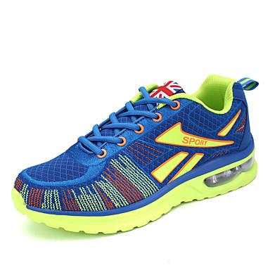 Sneakers-Tyl-Komfort-Herre-Blå Grå Orange-Udendørs Fritid Sport-Lav hæl