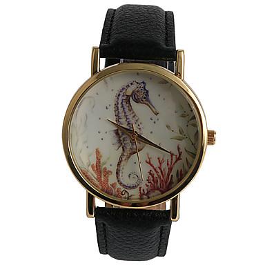 Dames Modieus horloge Vrijetijdshorloge / Kwarts PU Band Vrijetijdsschoenen Bruin