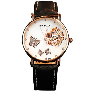 YAZOLE Mulheres Relógio de Moda Relógio Casual Relógio de Pulso Quartzo / PU Banda Borboleta Legal Casual Preta Branco VermelhoBranco