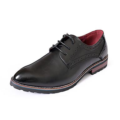 Masculino sapatos Courino Primavera Outono Conforto Oxfords Cadarço Para Casual Preto Marron
