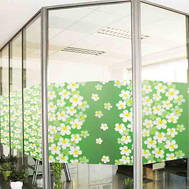 Árvores/Folhas Moderna Adesivo de Janela,PVC/Vinil Material Decoração de janela