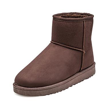 Støvler-PU-Snowboots-Dame-Sort Brun Gul-Fritid-Flad hæl
