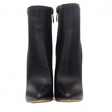 Cuir Talon Automne Aiguille Nouveauté Cowboy Chaussures Bottes 05259857 Femme Confort Gomme Hiver Western Bottes Verni de Similicuir 6XExAq4