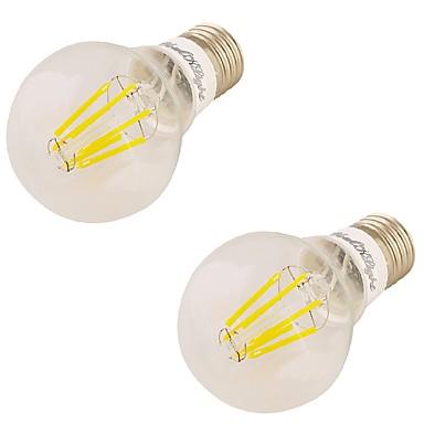 youoklight 2 stuks E27 6W 6 * geleid 550lm 3000k warm wit edison lampen geleid gloeilampen (85-265V)