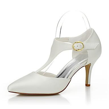 Damen Schuhe Seide Frühling / Sommer High Heels Stöckelabsatz Beige / Hochzeit / Party & Festivität