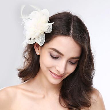 Tule Veer Net fascinators Hoofddeksels with Bloemen 1pc Bruiloft Speciale gelegenheden  Helm