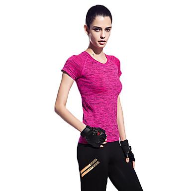 Dames Hardloopshirt Korte mouw Sneldrogend Ademend Comfortabel Reflecterende strips Zweetafvoerend T-shirt Sweatshirt Kleding Bovenlichaam