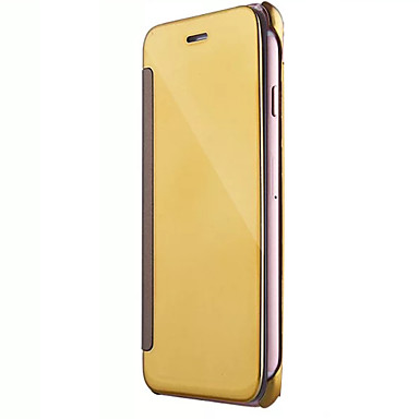 Etui Til Apple iPhone 7 / iPhone 7 Plus / iPhone 6 Spejl / Flip Fuldt etui Ensfarvet Hårdt PC for iPhone 7 Plus / iPhone 7 / iPhone 6s Plus