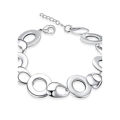 Damen Ketten- & Glieder-Armbänder Modisch Europäisch Sterling Silber versilbert Aleación Kreisform Schmuck Alltag Normal Modeschmuck Weiß