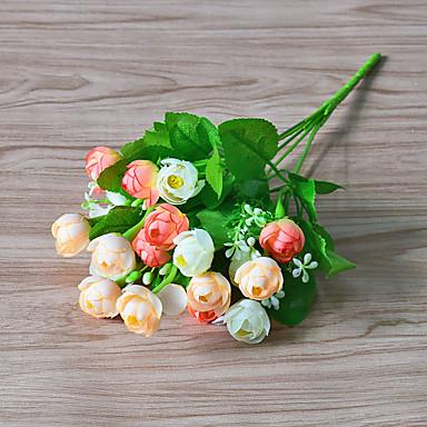 Künstliche Blumen 1 Ast Moderner Stil Rosen Tisch-Blumen