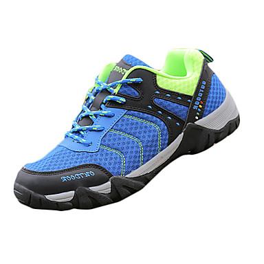 Herrn Schuhe Stoff Frühling Herbst Komfort Sneakers Wandern Schnürsenkel für Sportlich Draussen Orange Grau Blau
