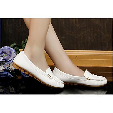 Feminino Sapatos Borracha Primavera Outono Tênis Caminhada Rasteiro Para Casual Branco Preto Verde Rosa claro