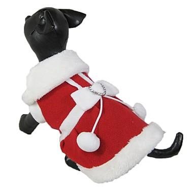 Kat Hund Kjoler Hundeklær Sløyfeknute Rød Polar Fleece Kostume For kjæledyr Herre Dame Jul