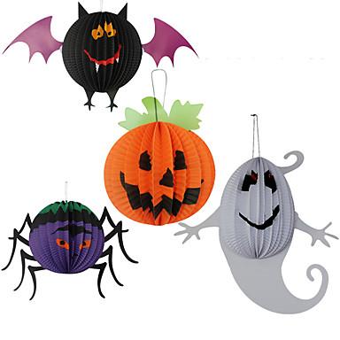 3pc opknoping lantaarns papier spin voor Halloween kostuum partij willekeurige kleur