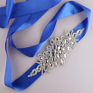 Satin Hochzeit / Party / Abend / Alltagskleidung Schärpe Mit Strass / Perlenstickerei / Paillette Damen Schärpen