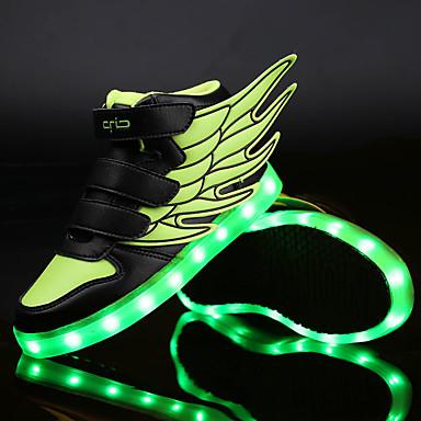 Uniseks Schoenen Synthetisch PU Lente Zomer Herfst Winter Noviteit Oplichtende schoenen Sneakers Wandelen Combinatie Magic tape LED Voor
