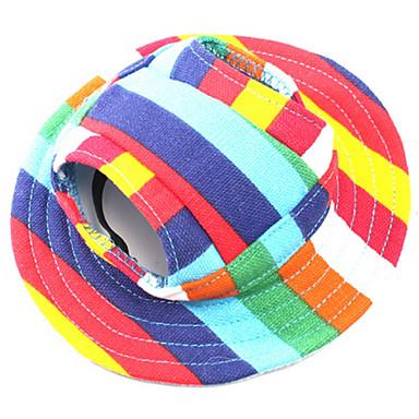 Perro Bandanas y Sombreros Ropa para Perro Rayas Arco iris Algodón Disfraz Para mascotas Hombre / Mujer Casual / Diario