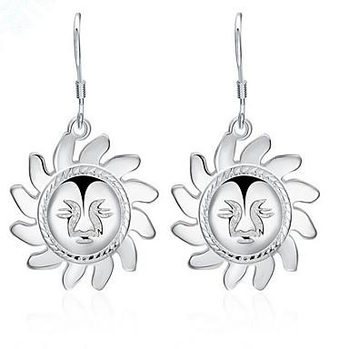 Dråbeøreringe Sølv Legering Sølvbelagt Personaliseret Blomstformet Solsikke Hvid Smykker Daglig Afslappet 1 par