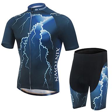 XINTOWN Wielrenshirt met shorts Heren Korte mouw Fietsen Shirt Short/Broekje Pakken Sneldrogend Ultra-Violetbestendig Ademend 3D Pad