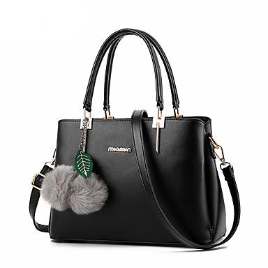 Damen Taschen PU Umhängetasche / Reisverschluss Niete Wein / Hellblau / Dark Gray