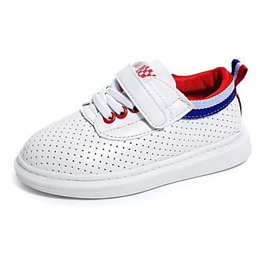 Sneakers-PU-Rund tå-Drenge-Grøn / Rød / Hvid-Hverdag-Flad hæl