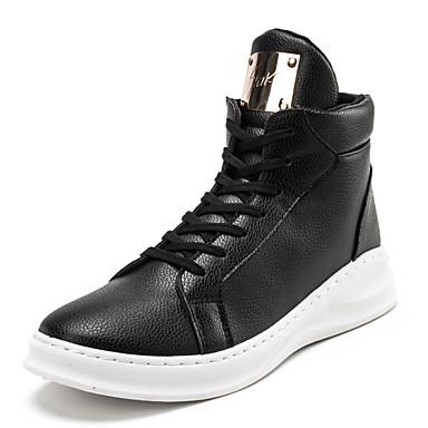 Sneakers-PU-Komfort-Herrer--Fritid-Flad hæl