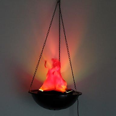 1pc de interessante retro Hallowmas jul praktisk førte vintage flamme lampe