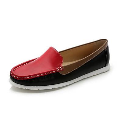Dames Schoenen Kunstleer Zomer Comfortabel Platte schoenen Platte hak Voor Zwart Fuchsia Bruin