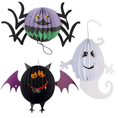 funny halloween græskar stor størrelse spøgelse edderkop bat skelet lampe papir lanterner dekoration party