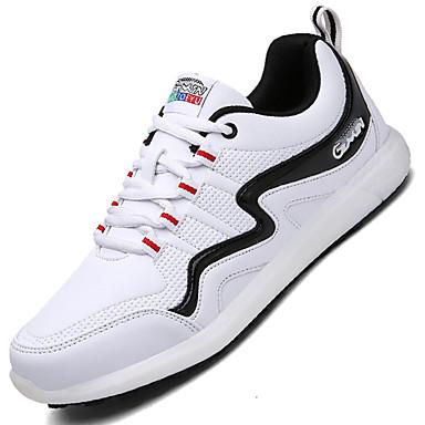 Heren Schoenen Synthetisch Lente Zomer Herfst Winter Comfortabel Sneakers Veters Voor Sportief Causaal Wit Zwart Zwart/Rood