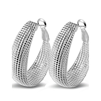 Women's Hoop Earrings - Sterling Silver Statement Ladies Sexy Fashion Jewelry Silver For Wedding Party Daily Casual Masquerade Engagement Party