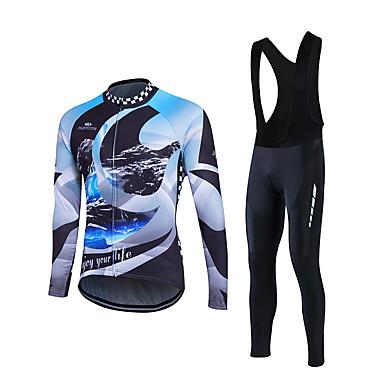 Fastcute Wielrenshirt met strakke wielrenbroek Heren Lange mouw Fietsen Pakken Wielrenkleding Ademend Comfortabel Lichtgewicht materiaal