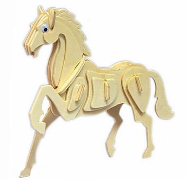 voordelige 3D-puzzels-3D-puzzels Houten puzzels Houten modellen Paard Hout Jongens Meisjes Speeltjes Geschenk