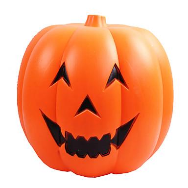 1pc voice-kontrol førte lysende græskar halloween græskar tønder smilende ansigt dekorationer bar butikker