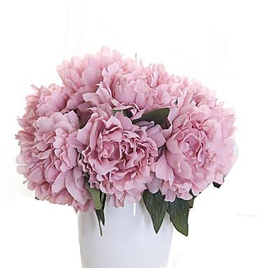 1 Tak Polyester Pioenen Bloemen voor op tafel Kunstbloemen