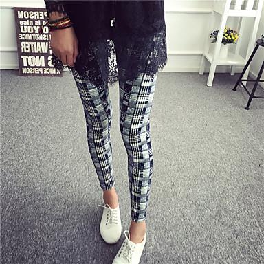 Damer Trykt mønster Legging Polyester