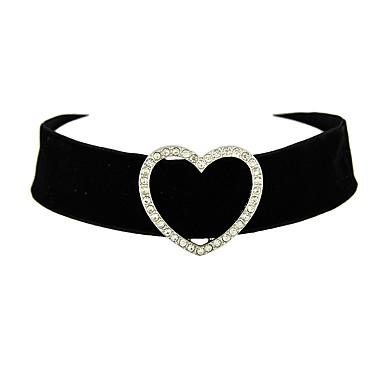 Damen Halsketten / Tattoo-Hals - Herz Tattoo Stil Schwarz Modische Halsketten Schmuck Für Danke, Alltag, Valentinstag