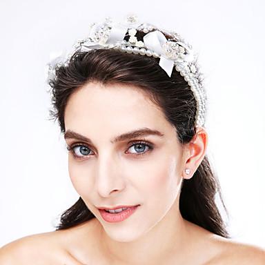 Dames Tule Imitatieparel Acryl Helm-Bruiloft Speciale gelegenheden  Hoofdbanden 1 Stuk