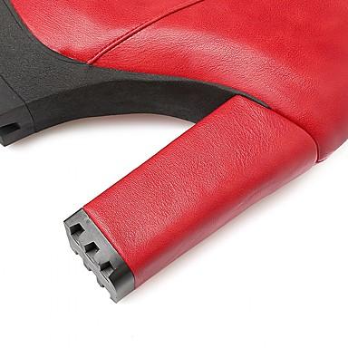 Marche Nouveauté de Similicuir de Verni neige 05264670 Bottes Bottes Talon Bottes Cowboy Automne Cuir Hiver Western Chaussures Femme qUwgFZ