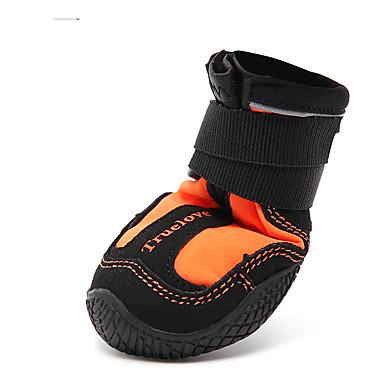 Hund Schuhe und Stiefel Hundekleidung Wasserdicht Solide Orange Grün Kostüm Für Haustiere