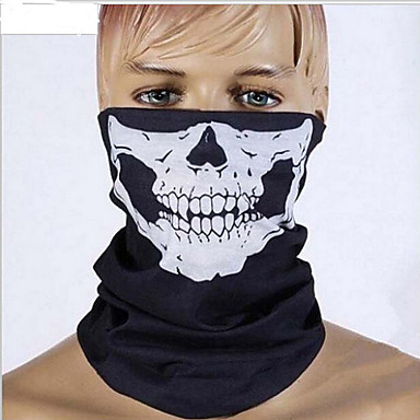 halloween full face horror grimas sluier maskerade kostuum partij bewegende thema jurk zag sluier gezicht kap