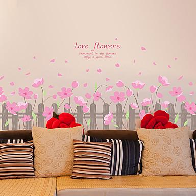 Stillleben Romantik Botanisch Wand-Sticker Flugzeug-Wand Sticker 3D Wand Sticker Dekorative Wand Sticker, Vinyl Haus Dekoration Wandtattoo