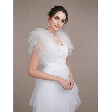 เสื้อไม่มีแขน Tulle งานแต่งงาน / Party / Evening ห่อแต่งงาน กับ ชั้น Boleros