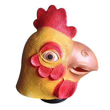 Máscaras de Dia das Bruxas Máscara de Animal Brinquedos Festa Galinha Látex Terror 1 Peças Dia Das Bruxas Baile de Máscaras Dom
