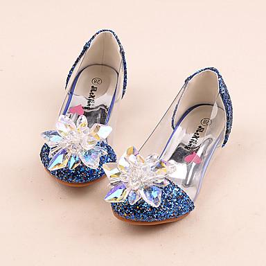 Para Meninas sapatos Sintético Primavera Verão Outono Inverno Conforto Rasos Cristais Miçangas Lantejoulas Gliter com Brilho Para