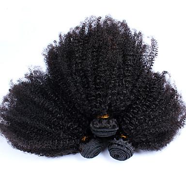Indiaas haar Kinky Curly Afro Menselijk haar weeft 3-delig Hot Sale