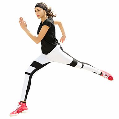 Connie Dame Løbetights Træningsleggings Åndbart Tights Underdele Yoga Pilates Boksning Klatring Træning & Fitness Fritidssport Cykling /