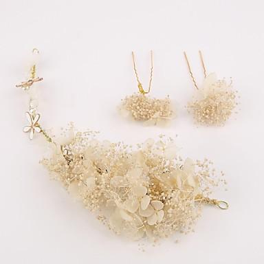 Material / Lino Flores / Tocados / Pin de pelo con Flor Boda / Fiesta / Ocasión especial Celada